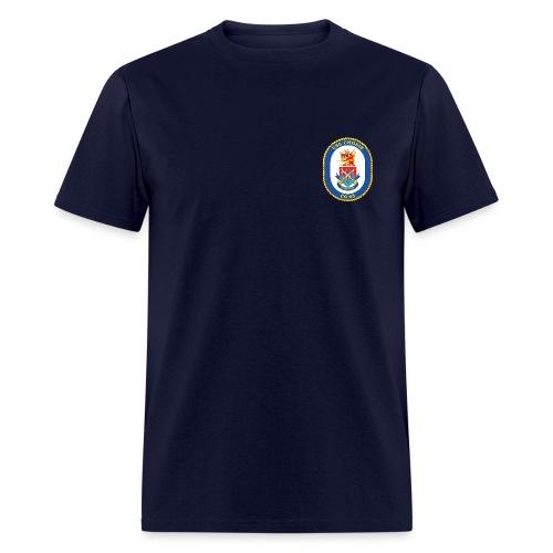USS CHOSIN CG-65 Crest Tee - Men's T-Shirt