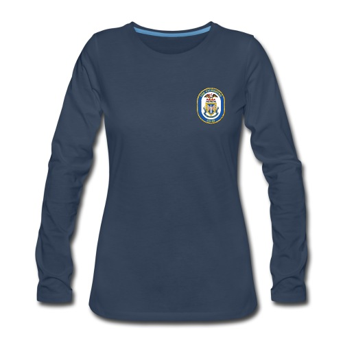 USS VICKSBURG CG-69 Crest Long Sleeve - Women's - Women's Premium Long Sleeve T-Shirt