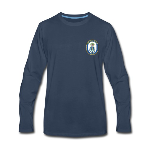 USS PORT ROYAL CG-73 Crest Long Sleeve - Men's Premium Long Sleeve T-Shirt