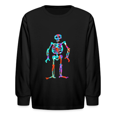 ELECTRIC NEON SKELETON Kids' Shirts