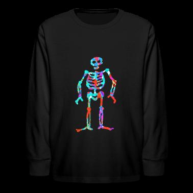 ELECTRIC NEON SKELETON Kids' Shirts