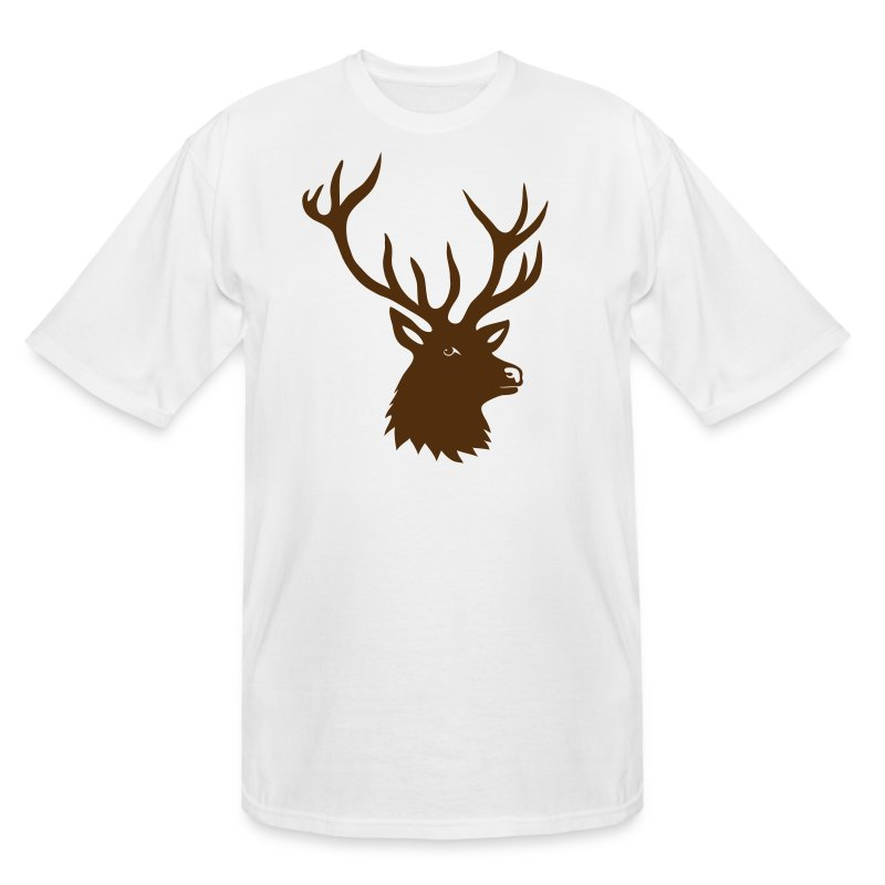animal t-shirt stag antler cervine deer buck night hunter bachelor - Men's Tall T-Shirt