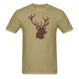 animal t-shirt stag antler cervine deer buck night hunter bachelor - Men's T-Shirt