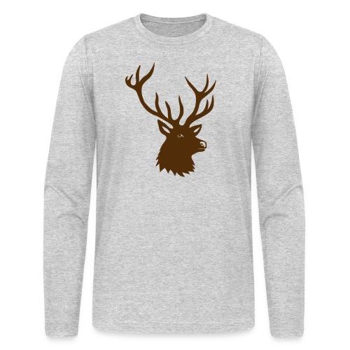 animal t-shirt stag antler cervine deer buck night hunter bachelor - Men's Long Sleeve T-Shirt by Next Level