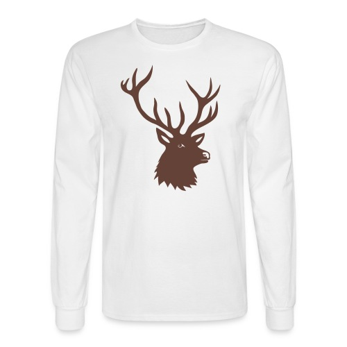 animal t-shirt stag antler cervine deer buck night hunter bachelor - Men's Long Sleeve T-Shirt