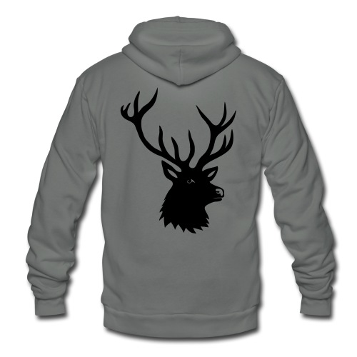 animal t-shirt stag antler cervine deer buck night hunter bachelor - Unisex Fleece Zip Hoodie