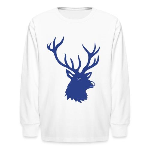 animal t-shirt stag antler cervine deer buck night hunter bachelor - Kids' Long Sleeve T-Shirt
