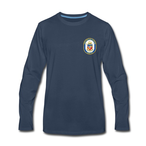 USS OSCAR AUSTIN DDG-79 Crest Long Sleeve - Men's Premium Long Sleeve T-Shirt