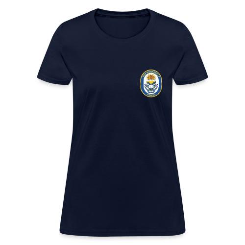 USS ROOSEVELT DDG-80 Crest Tee - Women's - Women's T-Shirt