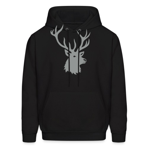 animal t-shirt stag antler cervine deer buck night hunter bachelor - Men's Hoodie