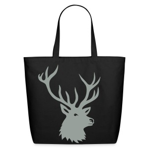 animal t-shirt stag antler cervine deer buck night hunter bachelor - Eco-Friendly Cotton Tote