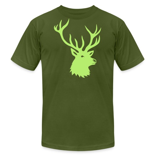 animal t-shirt stag antler cervine deer buck night hunter bachelor - Men's  Jersey T-Shirt