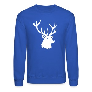 animal t-shirt stag antler cervine deer buck night hunter bachelor - Crewneck Sweatshirt