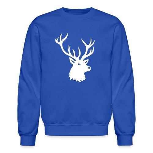 animal t-shirt stag antler cervine deer buck night hunter bachelor - Crewneck Sweatshirt
