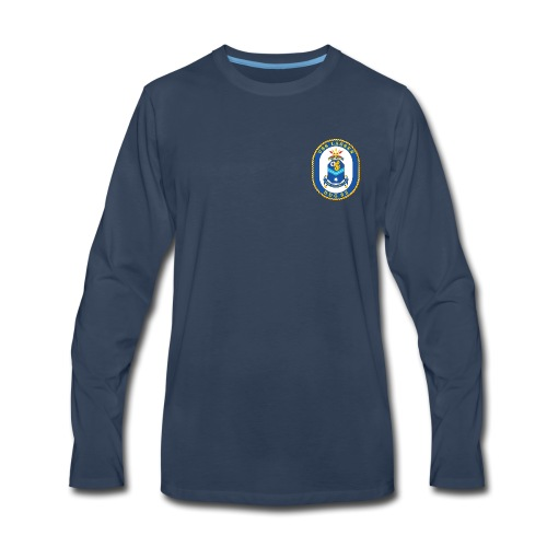 USS LASSEN DDG-82 Crest Long Sleeve - Men's Premium Long Sleeve T-Shirt