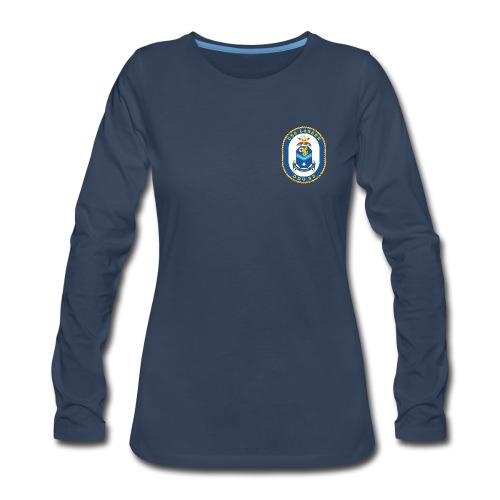 USS LASSEN DDG-82 Crest Long Sleeve - Women's - Women's Premium Long Sleeve T-Shirt