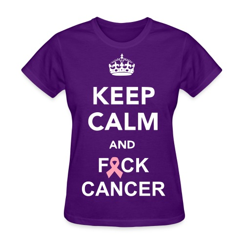 Keep Calm Breast Cancer - Women's T-Shirt
