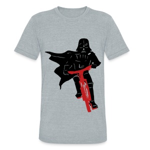 Vader on Bike - Unisex Tri-Blend T-Shirt by American Apparel