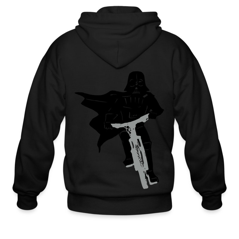 Vader on Bike - Men's Zip Hoodie