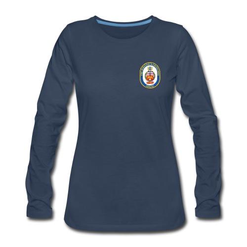 USS WINSTON S CHURCHILL DDG-81 Crest Long Sleeve - Women's - Women's Premium Long Sleeve T-Shirt