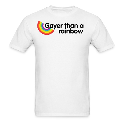 Gayer Than A Rainbow Tee - Men's T-Shirt