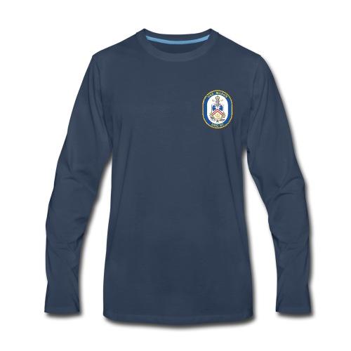 USS MASON DDG-87 Crest Long Sleeve - Men's Premium Long Sleeve T-Shirt