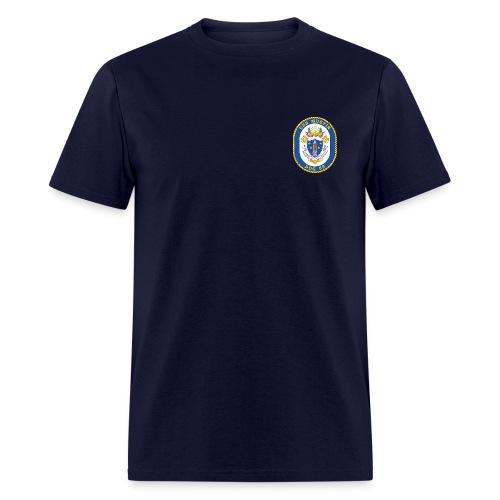 USS MUSTIN DDG-89 Crest Tee - Men's T-Shirt
