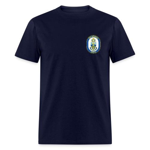 USS MOMSEN DDG-92 Crest Tee - Men's T-Shirt