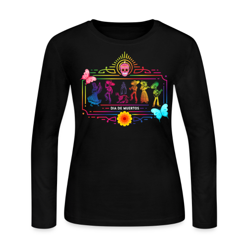 Dia de Muertes Long Sleeve Shirts - Women's Long Sleeve Jersey T-Shirt