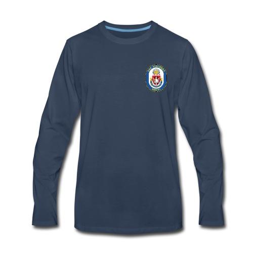 USS PINCKNEY DDG-91 Crest Long Sleeve - Men's Premium Long Sleeve T-Shirt