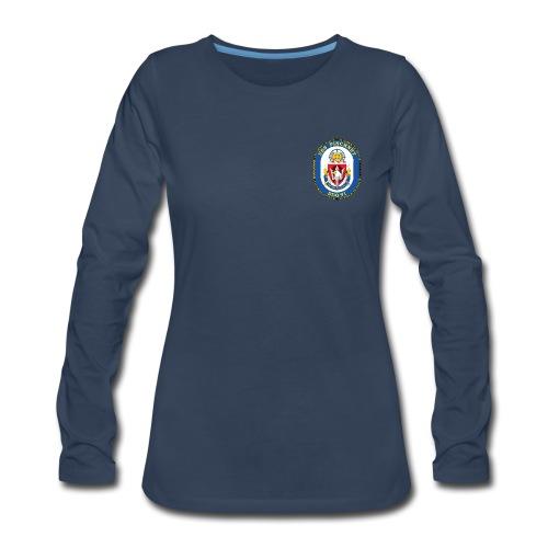 USS PINCKNEY DDG-91 Crest Long Sleeve - Women's - Women's Premium Long Sleeve T-Shirt