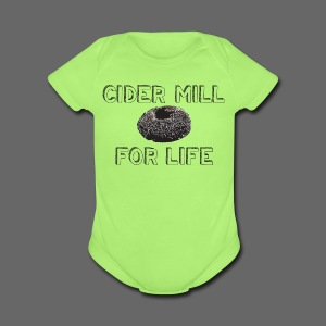 Cider Mill Donuts For Life - Short Sleeve Baby Bodysuit