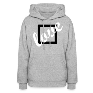 Love Doesn't Fit in A Box Hoodie Grey - Women's Hoodie