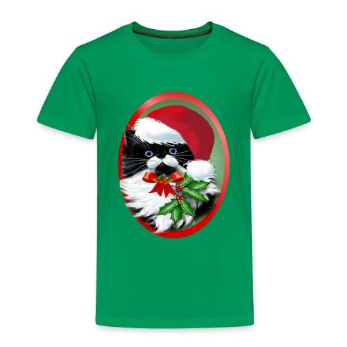 Tuxedo Kitty at Christmas - Toddler Premium T-Shirt