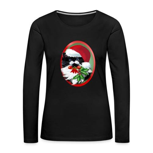 Tuxedo Kitty at Christmas - Women's Premium Long Sleeve T-Shirt