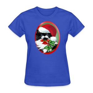 Tuxedo Kitty at Christmas - Women's T-Shirt