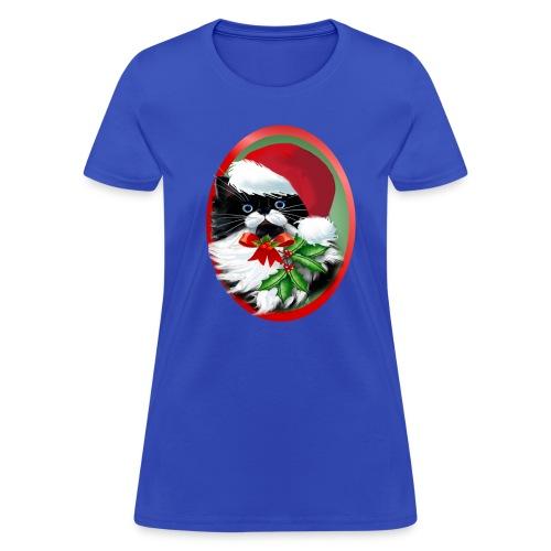 Tuxedo Kitty at Christmas - Women's T-Shirt