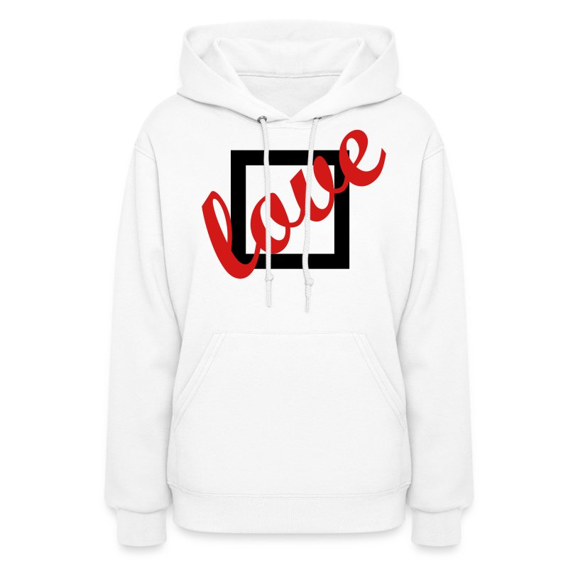 Love Doesn't Fit in A Box Hoodie White - Women's Hoodie