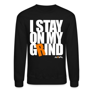 I Stay On My Grind Mens Crewneck Sweatshirt by AiReal Apparel - Crewneck Sweatshirt