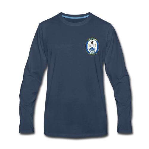 USS HALSEY DDG-97 Crest Long Sleeve - Men's Premium Long Sleeve T-Shirt