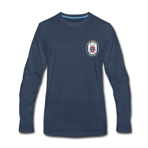 USS SAMPSON DDG-102 Crest Long Sleeve - Men's Premium Long Sleeve T-Shirt