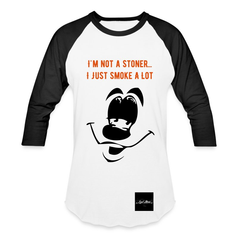 Smoke A lot... (Baseball Tee) - Baseball T-Shirt