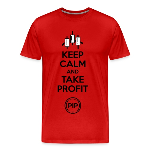 PIP™ Keep Calm Red and Black with white accent - Men's Premium T-Shirt