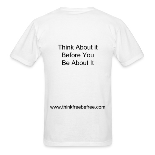 TFBF Motto Mens T-Shirt White - Men's T-Shirt