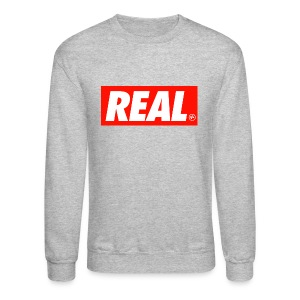 REAL Mens Crewneck Sweatshirt by AiReal Apparel - Crewneck Sweatshirt