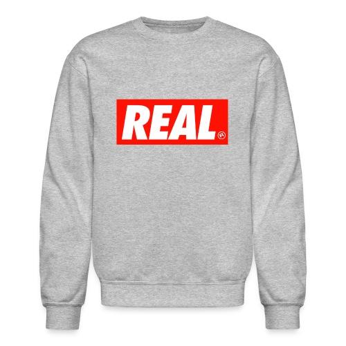REAL Mens Crewneck Sweatshirt by AiReal Apparel - Crewneck Sweatshirt