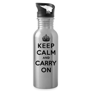 Keep Calm and Carry On Water Bottle - Water Bottle