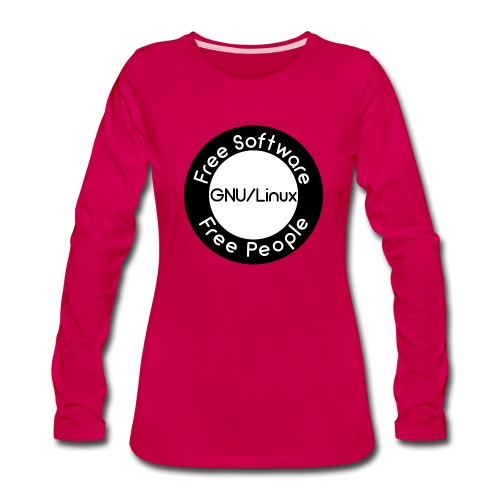 GNU/Linux - Women's Premium Long Sleeve T-Shirt