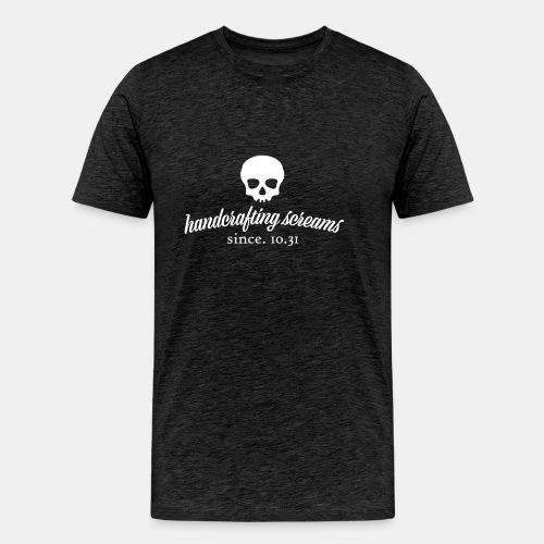 Handcrafting Screams Mens Grey T-Shirt - Men's Premium T-Shirt