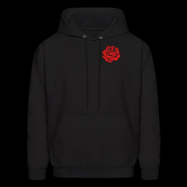 c3fbf2cae8395 Retro Designs Clothing Company   Simple Rose Hoodie - Mens Hoodie